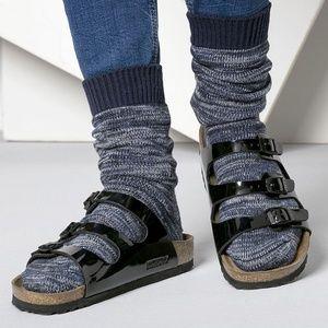 BIRKENSTOCK Florida Sandals Patent Black Size 39 N